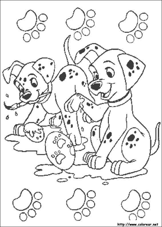 Dibujos para colorear de 101 Dálmatas