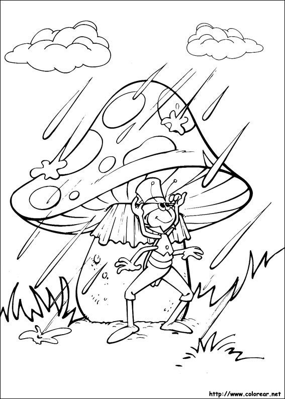 Dibujos para colorear de Abeja Maya