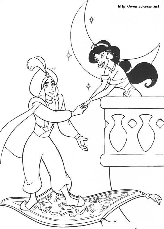 Dibujos de Aladdin para colorear en Colorear.net