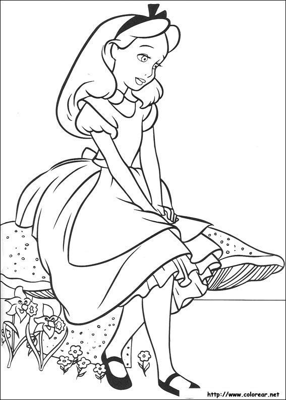 Dibujos de Alicia en el país de las maravillas para colorear en ...