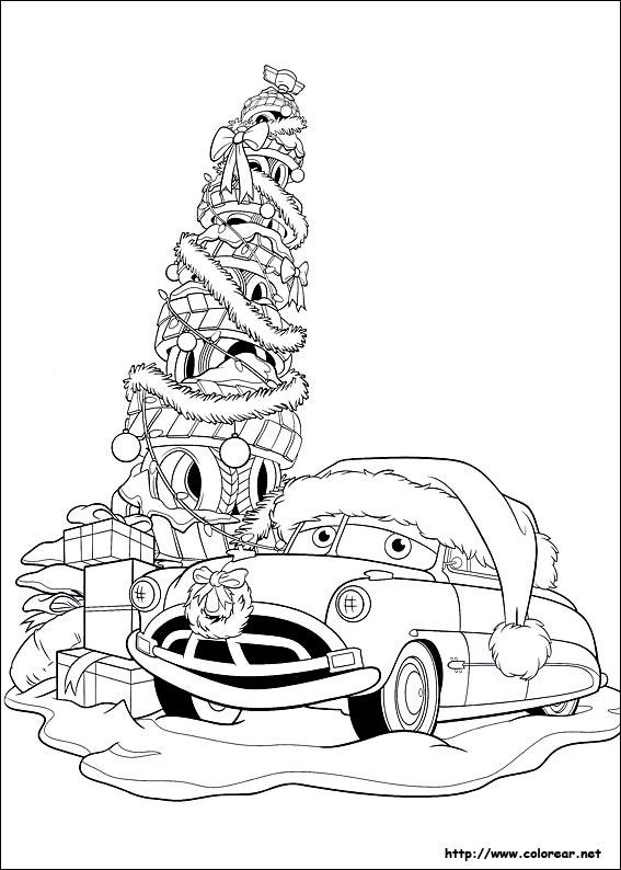 Dibujos para colorear de amigos en navidad for Cars christmas coloring pages