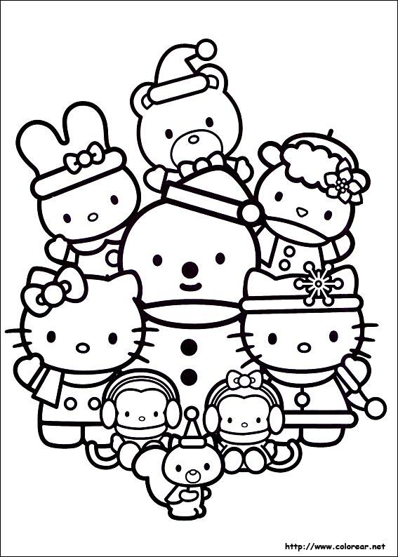 Worksheet. Dibujos para colorear de Amigos en Navidad