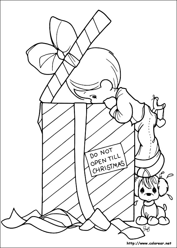 p moments coloring pages christmas - photo#42