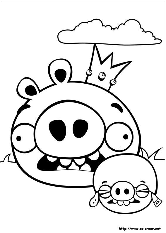 Dibujos de Angry Birds para colorear en Colorear.net