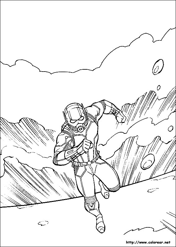ant man coloring pages - dibujos para colorear de ant man