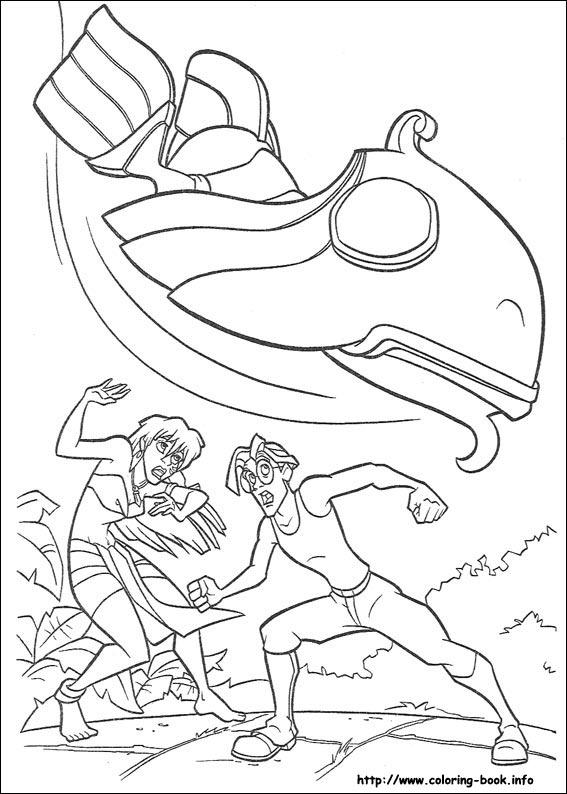 Dibujos para colorear de Atlantis