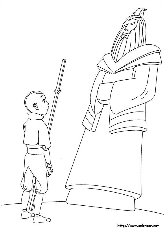 Dibujos para colorear de Avatar, la leyenda de Aang