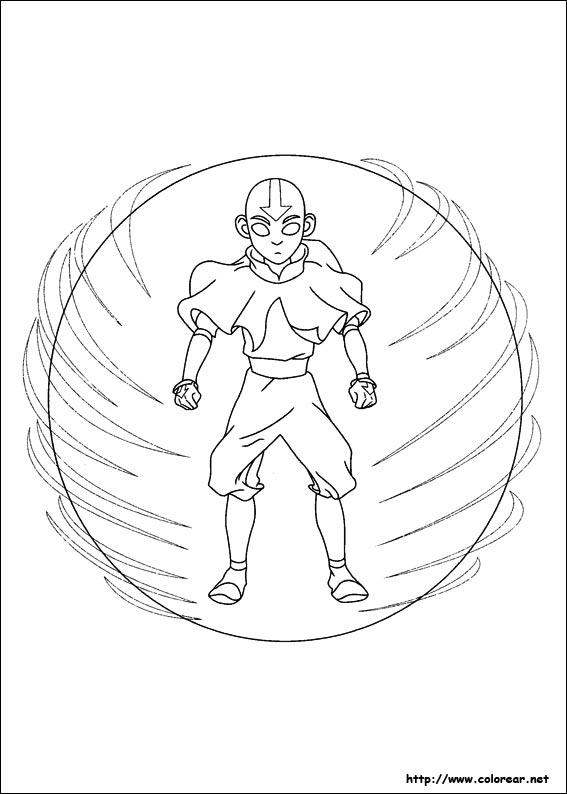Dibujos de Avatar, la leyenda de Aang para colorear en Colorear.net