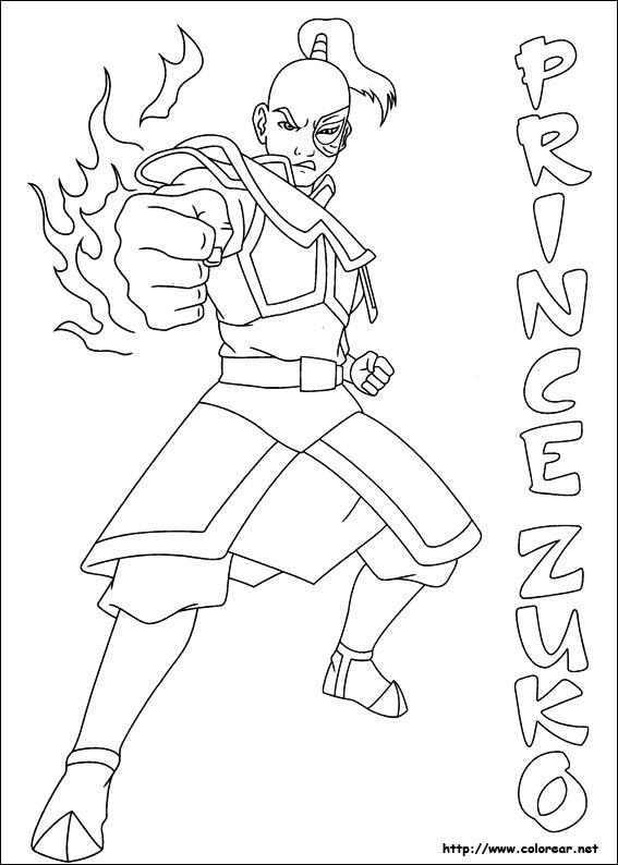 Excepcional Avatar Aang Para Colorear Viñeta - Páginas Para Colorear ...