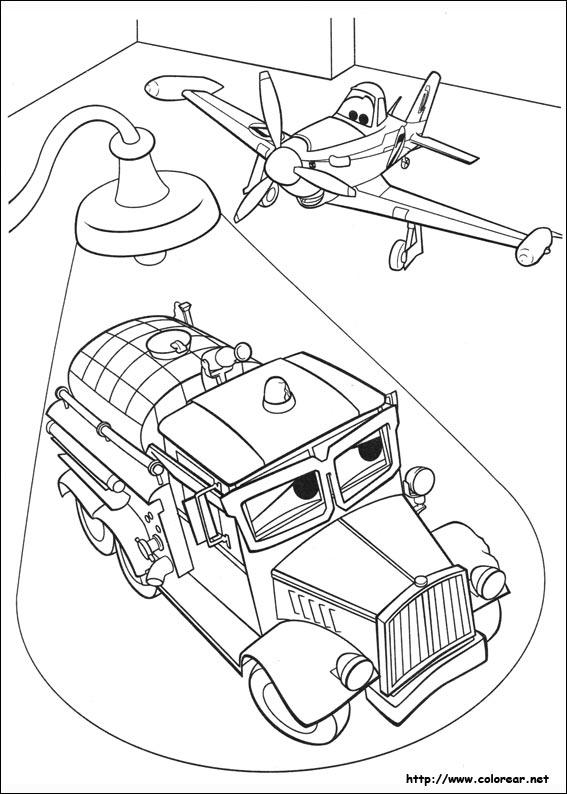 Dibujos para colorear de Aviones Equipo de rescate