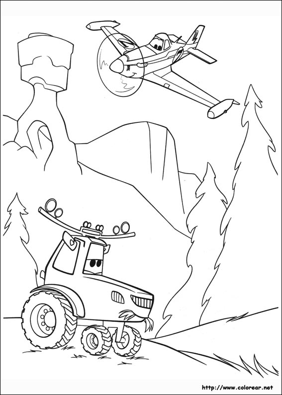 Coloring pages disney planes