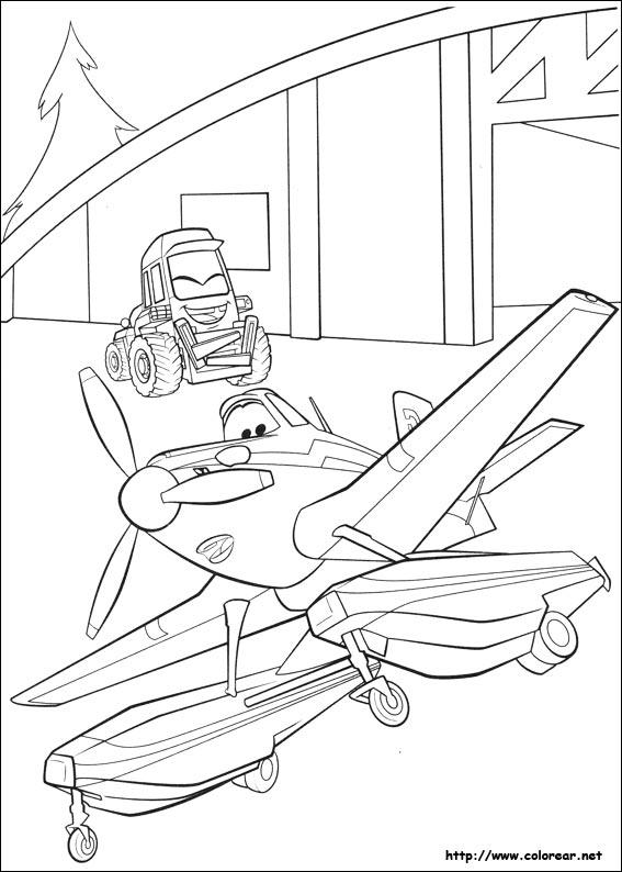 Dibujos para colorear de Aviones: Equipo de rescate