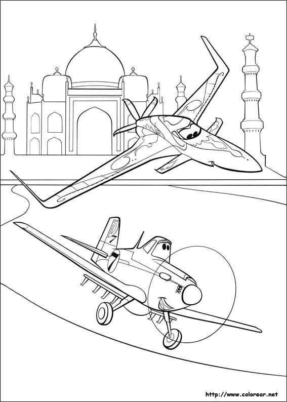 Dibujos de Aviones para colorear en Colorear.net
