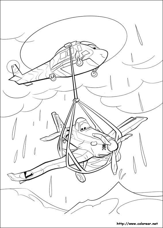 Dibujos para colorear de Aviones
