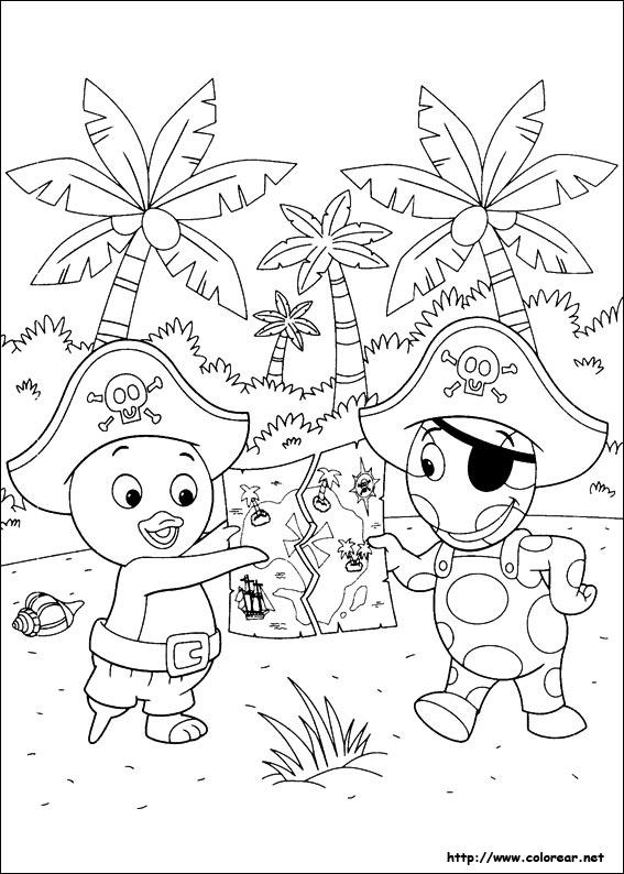 Dibujos para colorear backyardigans imagui for Amiguitos del jardin