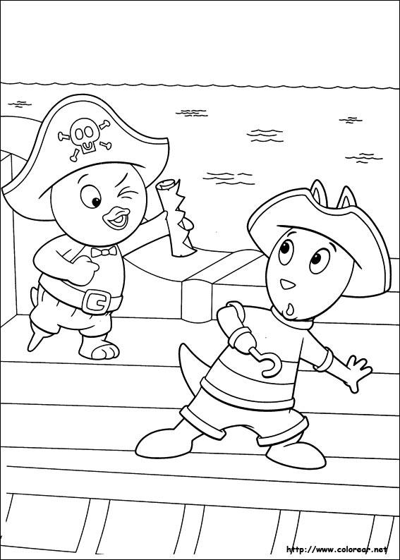 Dibujos para colorear de backyardigans for Amiguitos del jardin