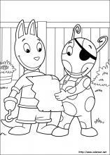 Dibujos de backyardigans para colorear en for Amiguitos del jardin