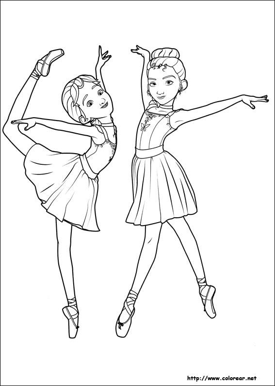Dibujos de Ballerina para colorear en Colorear.net