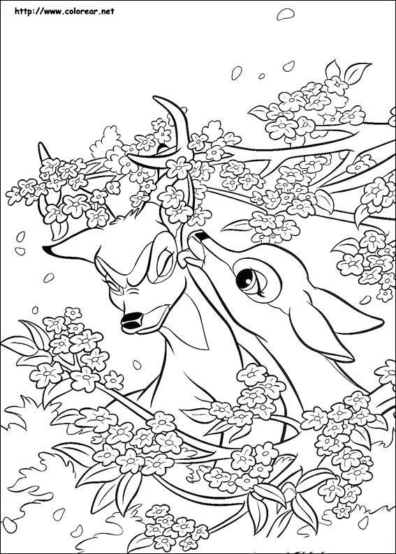 Dibujos de Bambi para colorear en Colorear.net
