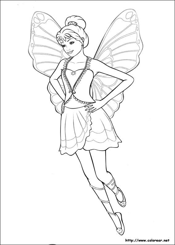 Dibujos de Barbie Mariposa para colorear en Colorearnet