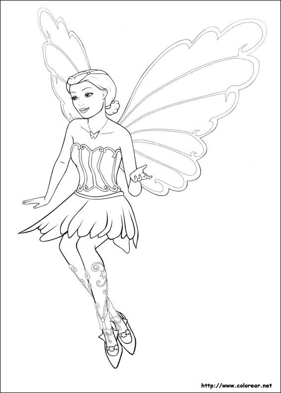 Dibujos para colorear de Barbie Mariposa