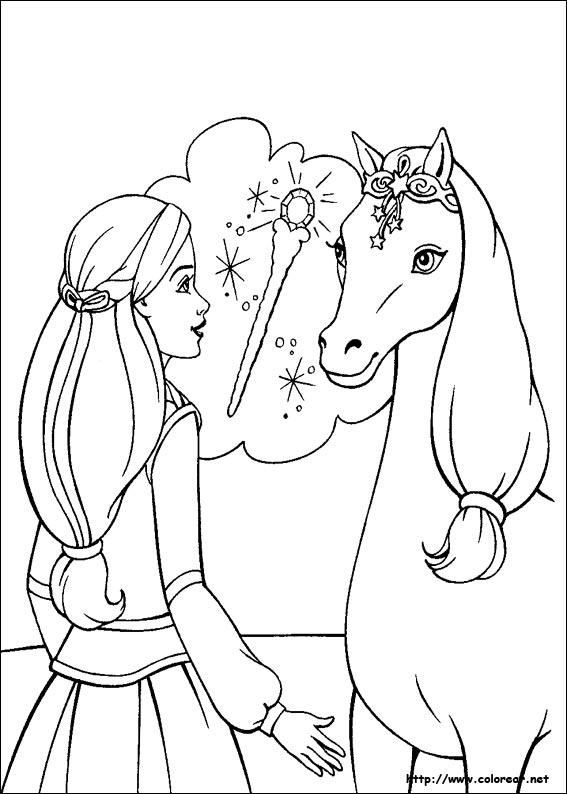 Dibujos para colorear de Barbie y la Magia de Pegaso