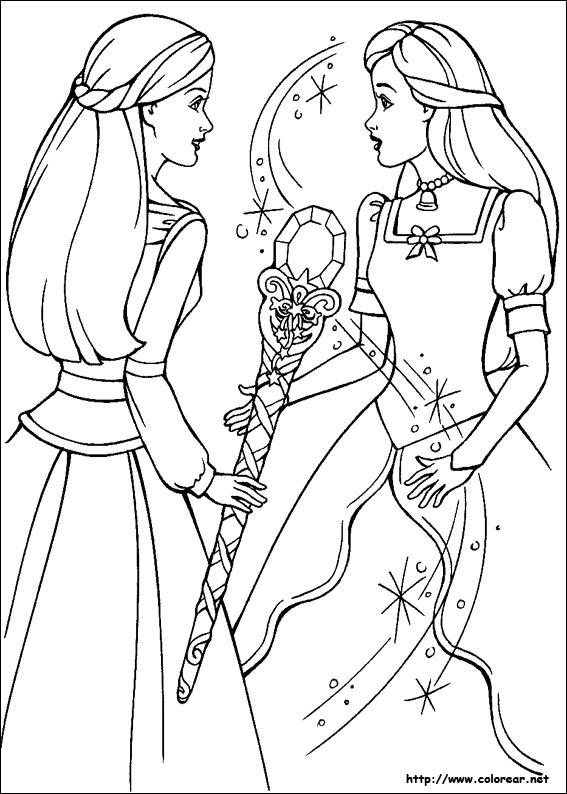 Dibujos de Barbie y la Magia de Pegaso para colorear en Colorear.net