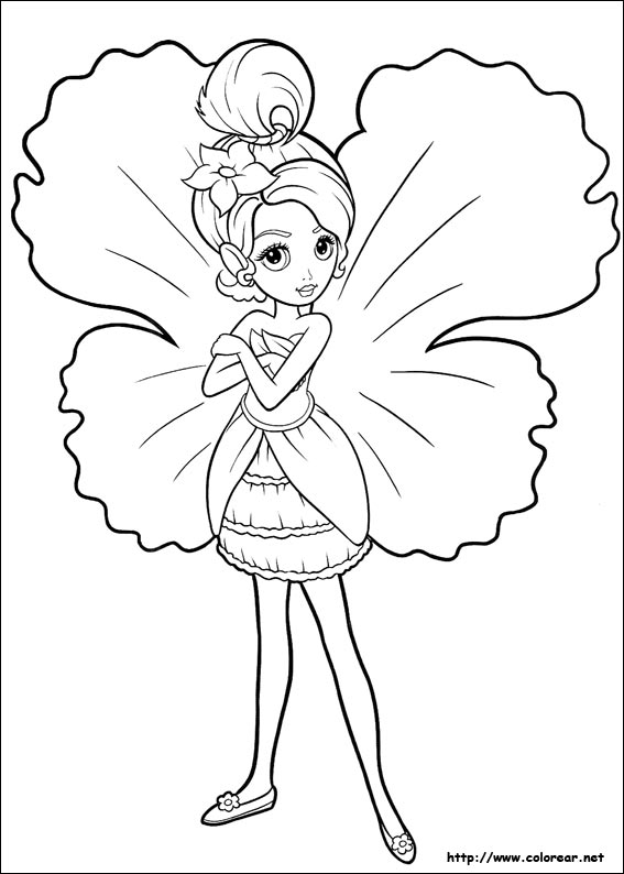 barbie fairy coloring pages - dibujos para colorear de barbie pulgarcita