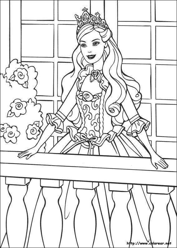 Dibujos de Barbie en la princesa y la plebeya para colorear