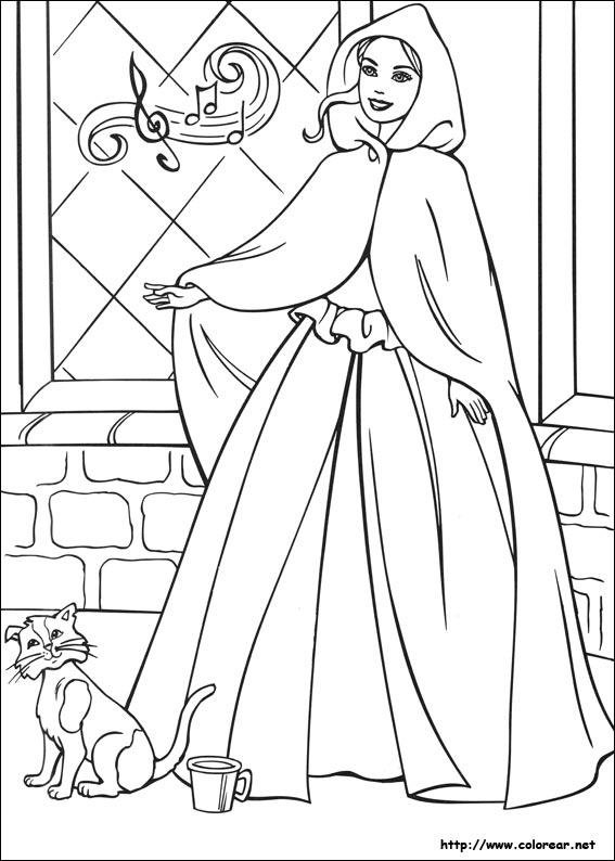 Dibujos para colorear de Barbie en la princesa y la plebeya