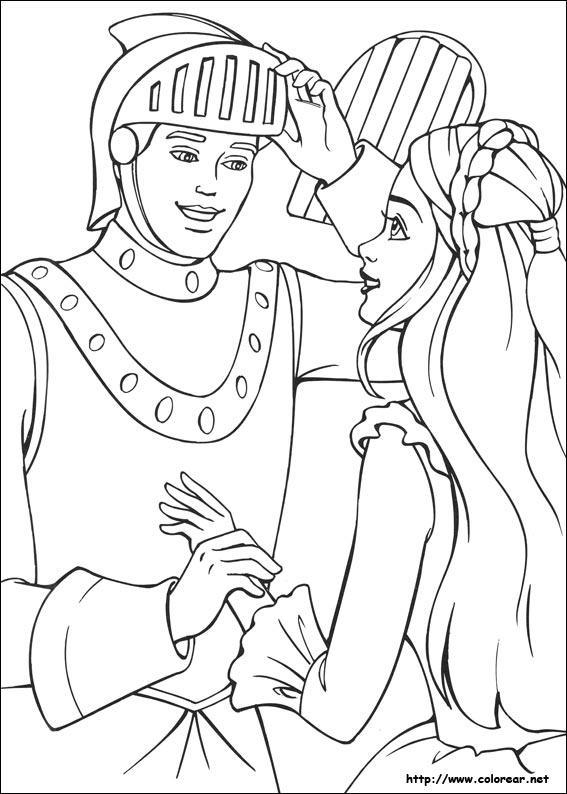 Dibujos de Barbie en la princesa y la plebeya para colorear en ...