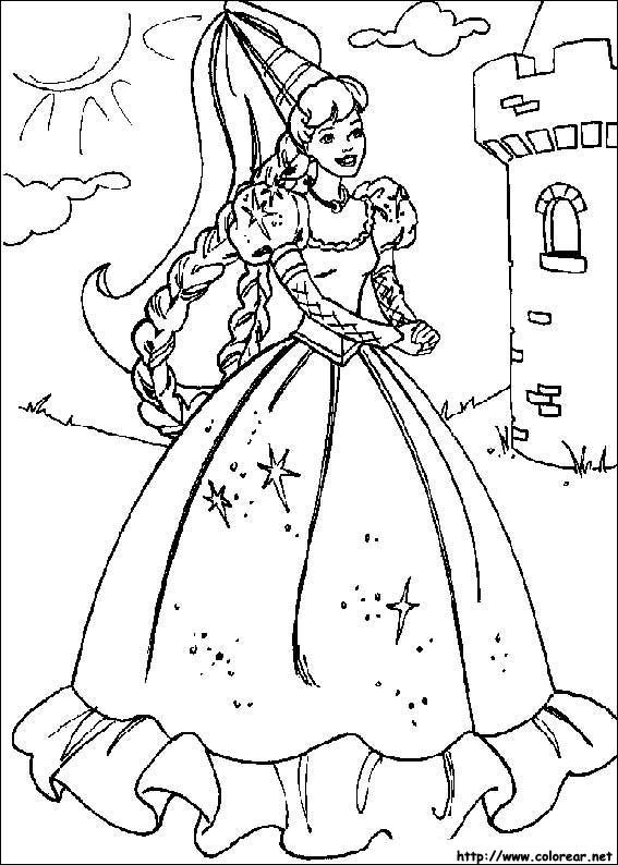 Dibujos de Barbie para colorear en Colorear.net