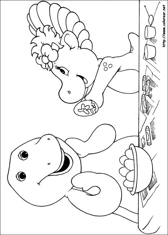 Dibujos Para Colorear Barney Sus Amigos