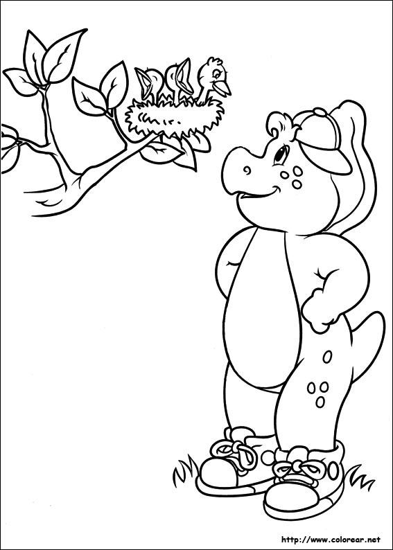 Dibujos para colorear de barney y sus amigos for Barney halloween coloring pages
