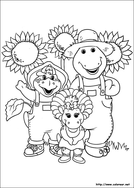 barneys christmas coloring pages - photo#8