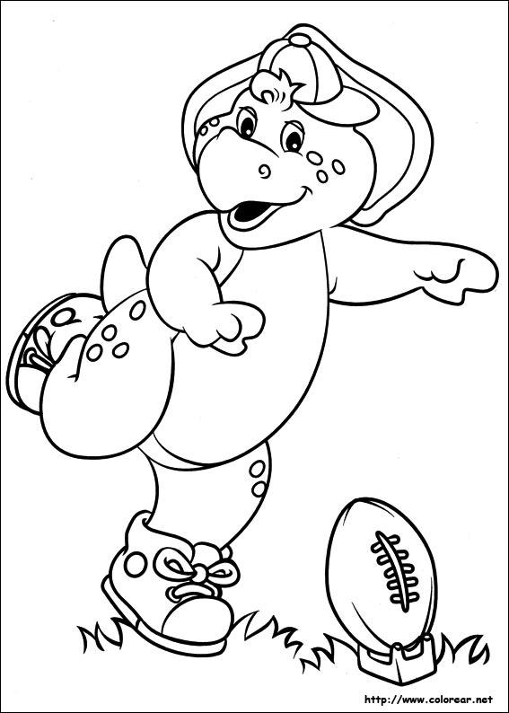 Dorable Barney Para Imprimir Para Colorear Cresta - Ideas Para ...
