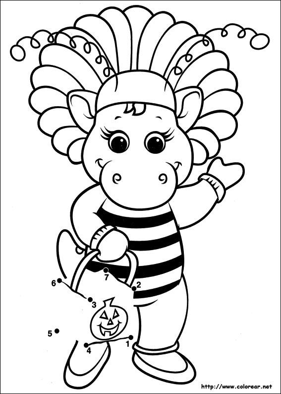 Dibujos para colorear de Barney y sus amigos