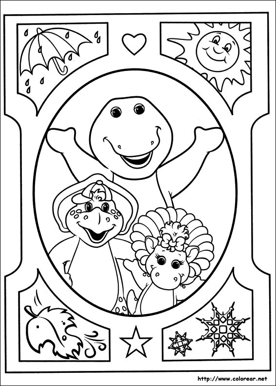 christmas barney coloring pages - photo#34