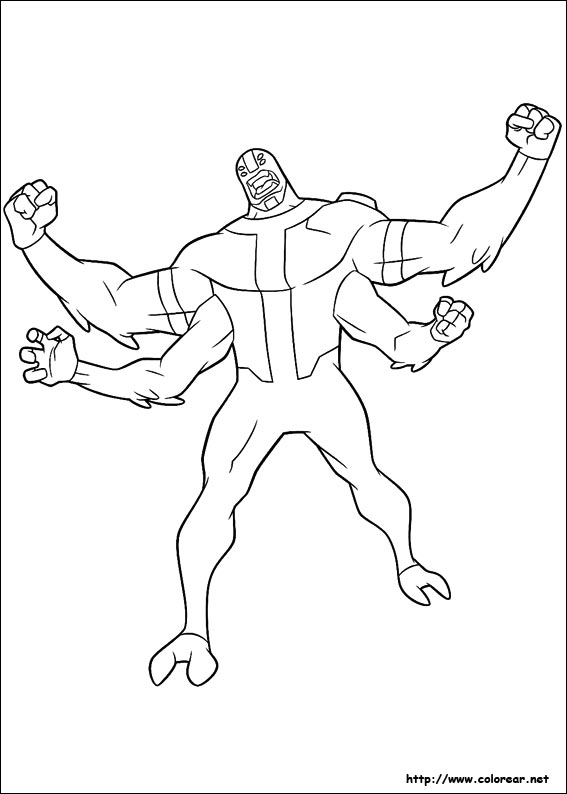 Ben 10 Monster Coloring Pages