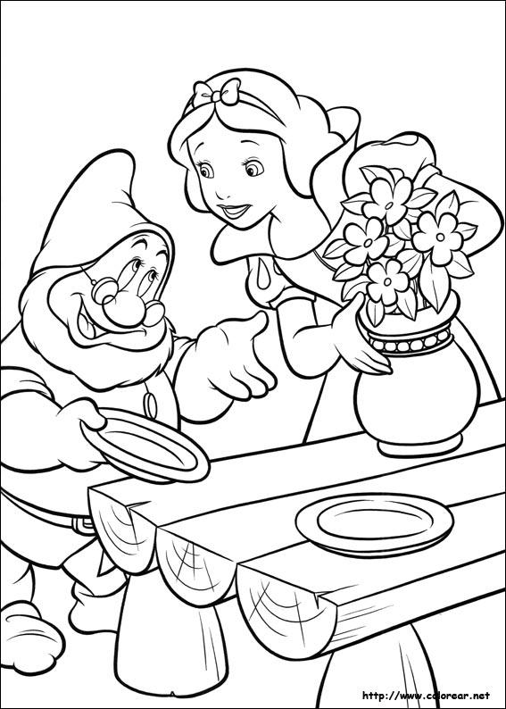 Dibujos Para Pintar De Blancanieves Y Los 7 Enanitos
