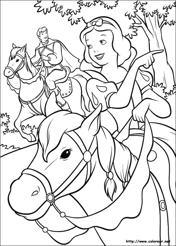 Dibujos para colorear de blancanieves y los siete enanitos for Snow white coloring pages