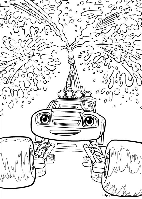 Dibujos para colorear de blaze y los monster machines for Blaze da colorare