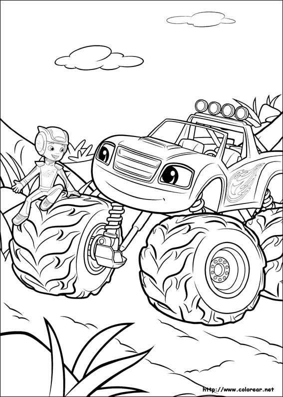 Dibujos de Blaze y los Monster Machines para colorear en Colorear.net