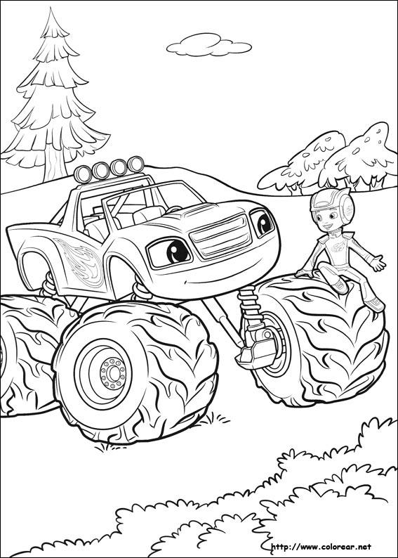 Dibujos de Blaze y los Monster Machines para colorear en Colorear.net