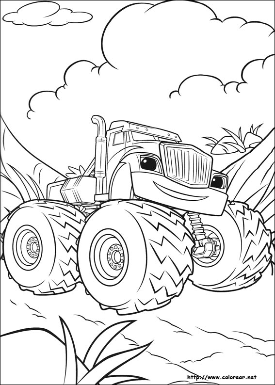 Dibujos para colorear de Blaze y los Monster Machines