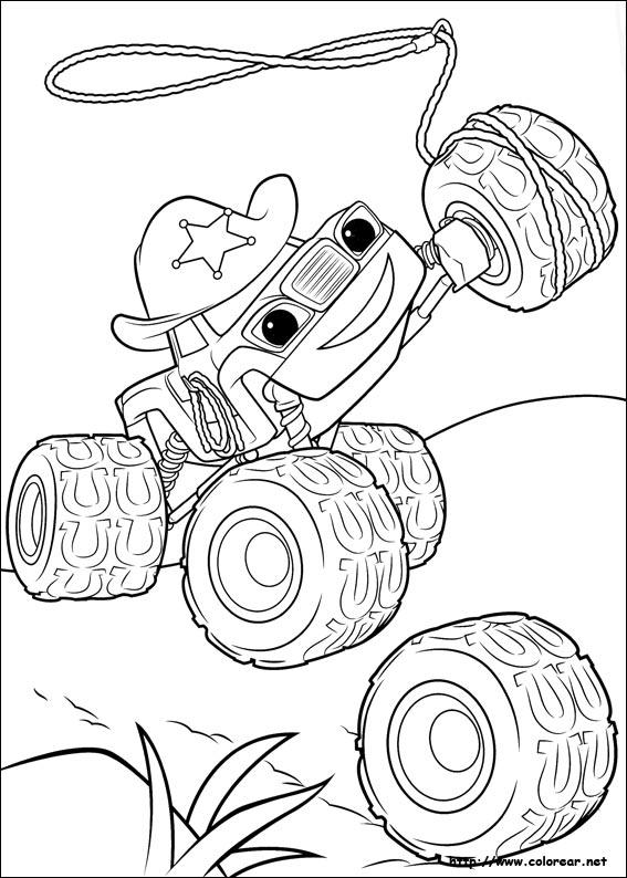Dibujos para colorear de blaze y los monster machines for Immagini di blaze