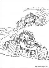 Dibujos De Blaze Y Los Monster Machines Para Colorear En Colorearnet