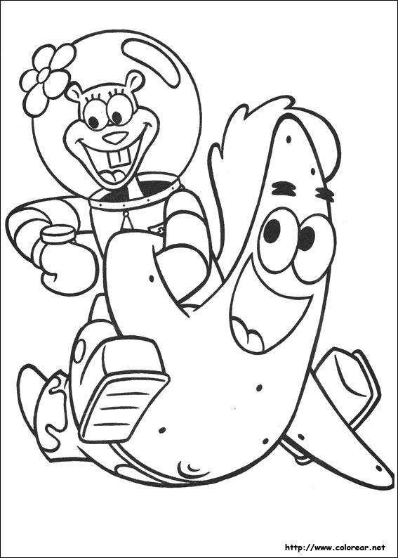 Dibujos de Bob Esponja para colorear en Colorear.net