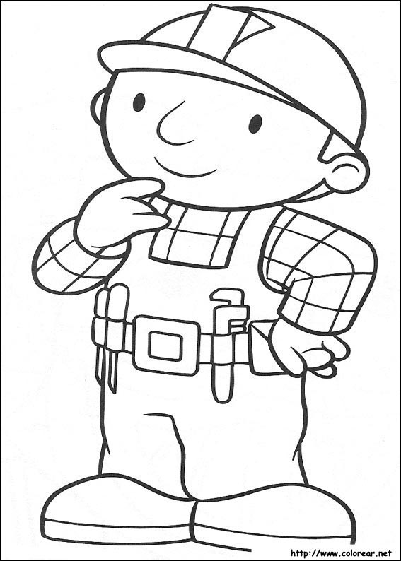Dibujos para colorear de Bob el Constructor