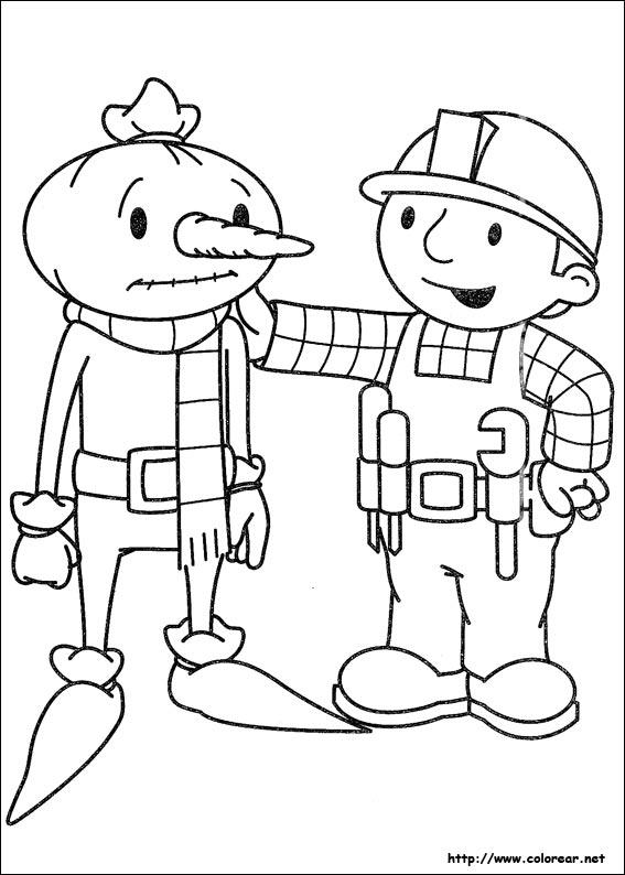 Dibujos de Bob el Constructor para colorear en Colorear.net